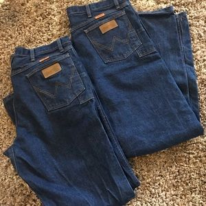 TWO PAIR(!) of NWOT Wrangler FR work jeans 36x32